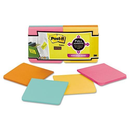 3M/COMMERCIAL TAPE DIV. Full Adhesive Notes, 3 x 3, Assorted Rio De Janiero Colors, 12/PK (F33012SSFM) 1x 49mm 3m 468mp 200mp adhesive double sided sticky tape for screen electronic components tablet lens keyboard jointing boinding