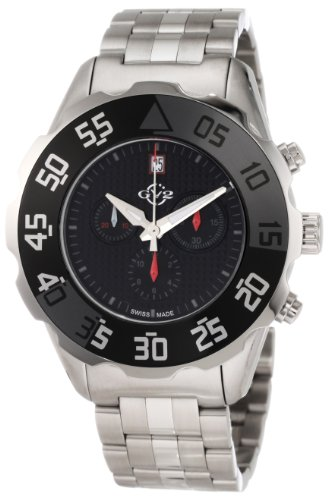 GV2 by Gevril Men's 3004B Parachute Chronograph Bracelet Date Watch
