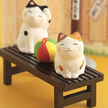 薬師窯 猫町ねこ(縁台と紙風船)