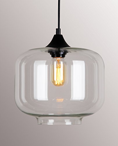permo 1 light retro modern clear glass bottle shade