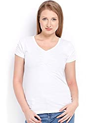 ESPRESSO V NECK TOP - WHITE
