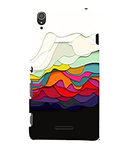 Colored Graphics 3D Hard Polycarbonate Designer Back Case Cover for Sony Xperia T3