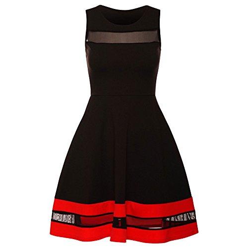 candid-styles-damen-skater-kleid-schwarz-schwarz-gr-16-schwarz-black-celeb-inspired-by-paris-hilton-