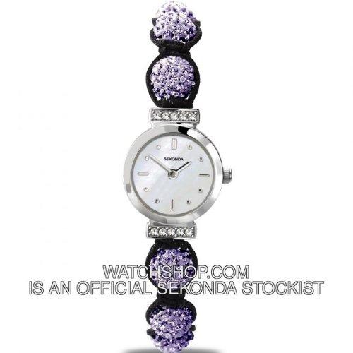 Sekonda Ladies Lilac Crystalla Charm Watch