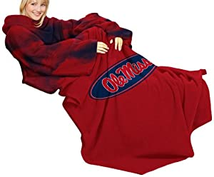 NCAA Mississippi Rebels Adult Comfy Throw, Smoke Design by Northwest