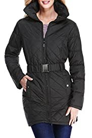 M&S Collection Concealed Hood Belted Coat with Stormwear [T49-2038-S]