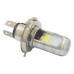 Vheelocityin Led White Light Double Side Hid Bike Headlight Bulb / Motorcycle Bulb For Tvs Scooty Streak