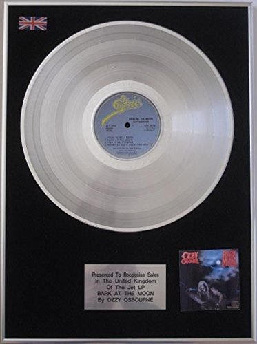 Ozzy Osbourne-Platinum disco LP-Bark alla luna
