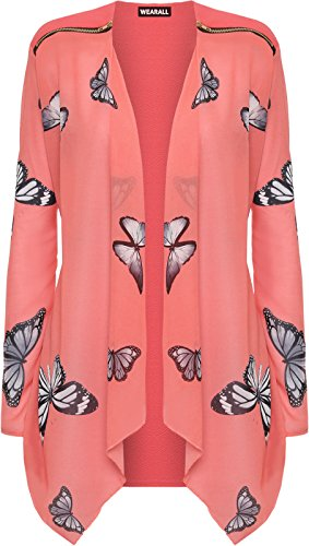 plus-size-womens-long-sleeve-chiffon-butterfly-print-zip-cardigan-ladies-top-20-coral