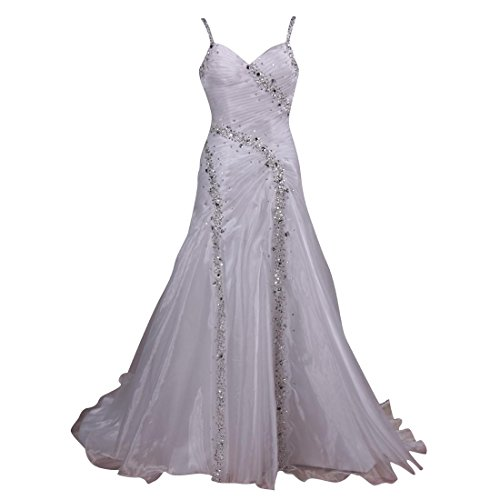Vanessa Women'S Organza Diamond Bridal Wedding Dresses White Size Us 10