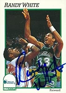 Randy White Autographed Hand Signed Basketball card (Dallas Mavericks) 1991 Hoops... by Hall of Fame Memorabilia