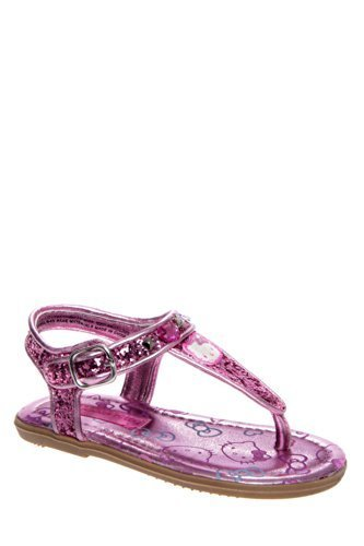 Hello Kitty Toddlers Lil Shimmer Ankle Strap Thong Sandal