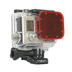 GoPro Hero3 Red Dive Filter-Snap On Accessory for GoPro Hero3 White, Silver, and Black Cameras