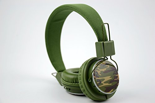 Granvela A809 Foldable Headphone Headset New Fashion Brand Music Player Wireless Handsfree Headset Headphones Earphone,Support Tf Card Fm Radio Monitor Portable Audio Pc --Camouflage