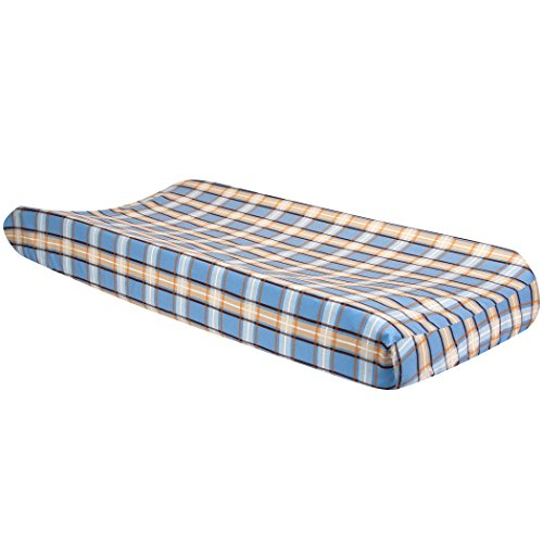Trend Lab Cowboy Baby Plaid Changing Pad Cover, Cowboy