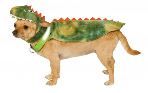 Rubies Costume Company Dinosaur Cape with Headpiece and Light-Up Collar for Pets, X-Large