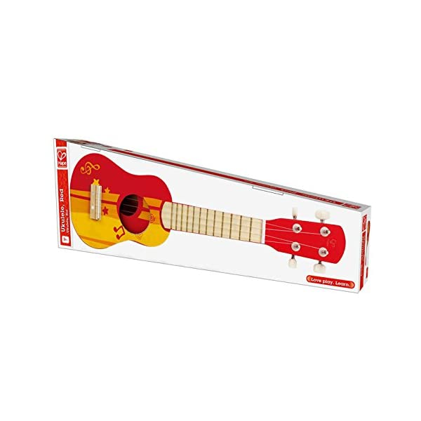 Hape Early Melodies Red Ukulele Wooden Instrument