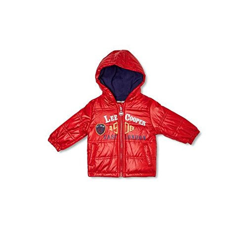 Lee Cooper-Parka con cappuccio per neonato, da maschietto rosso 24 mesi