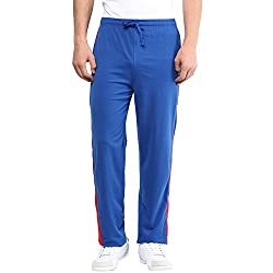 Aventura Outfitters Single Jersey Trackpant Royal Blue With Half Red Stripes and Two Piping - M (AOSJTP518A-M)