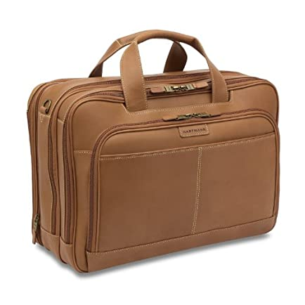 Hartmann Belting Leather Triple Compartment Expandable Briefcase