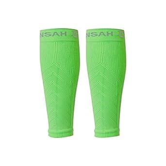 Zensah Compression Leg Sleeve Neon Green XS / Small