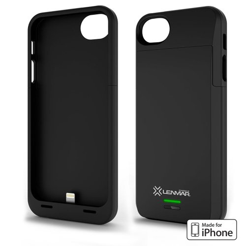 Mfi Apple Approved - Lenmar Meridian Iphone 5/5S Rechargeable Extended Battery Case For Iphone 5/5S - At&T, Sprint, Verizon - Black - 100% Additional Battery Life (2300Mah)