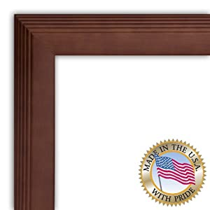 Art to Frames 2WOM016-304-480-3.5x5 3.5 by 5-Inch Picture Frame, 1.5-Inch Wide, Walnut with STEPS
