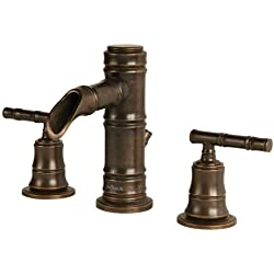 Pegasus 67388-8096H Bamboo Series 8-Inch Widespread 2-Handle Low-Arc Bathroom Faucet in Heritage Bronze