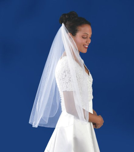Wedding  Bridal Veil : Single-Layer Rolled-Edge Veil - 31''x54'