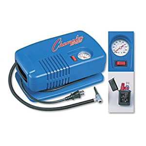 Heavyweight professional inflating pump has a 1 4 HP compressor and a 20V power cord...