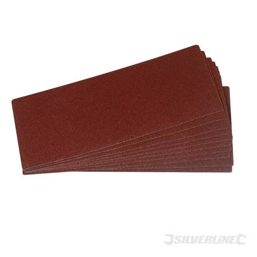 Power Tool Accessories Sanding Sheets 1/3 Sanding Sheets 10pk 60 Grit Aluminium oxide. Heavy 'E' weight and pre-cut to fit all 1/3 sheet clip sanding machines. 93mm x 230mm.