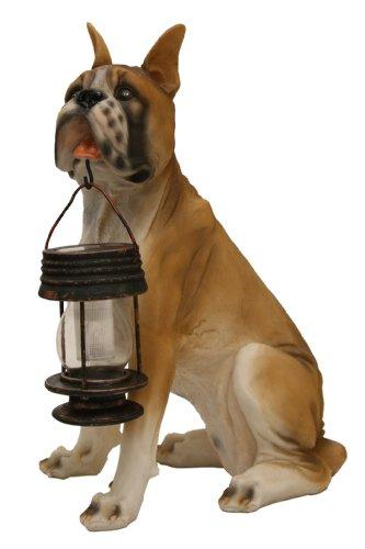 Tricod Boxer Dog With Lantern Solar Light