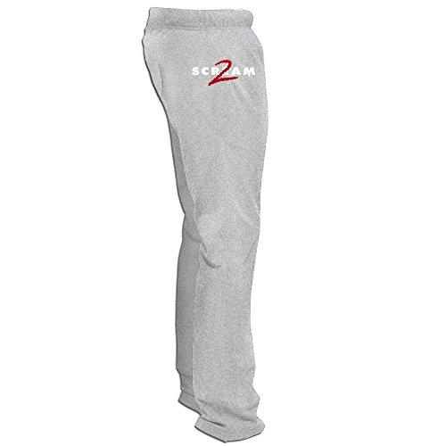 Yesher Funny Men's American Slasher Film Long Workout Pants - Ash Size XXL
