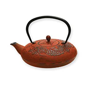 Unity tetsubin cast iron tea pot red teapots teapots - Cast iron teapot dragon ...