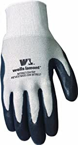 Wells Lamont 546M Work Gloves Coated with Nitrile Rubber, M