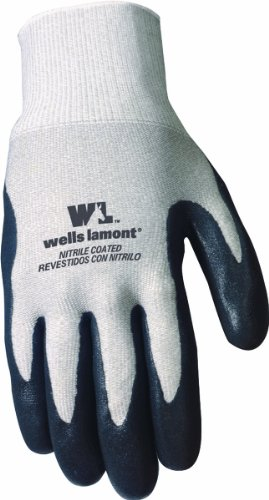 Wells Lamont 546L Work Gloves Coated with Nitrile Rubber, L