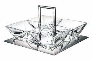 Lagostina 014420000003 Antipasti-Set mit 4 Glasschälchen