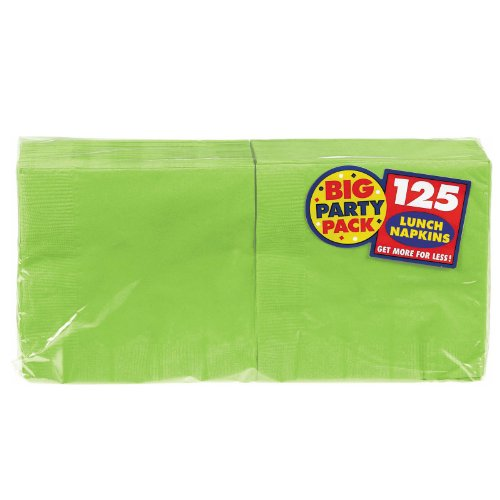 Amscan Big Party Pack 125 Count Luncheon Napkins, Kiwi