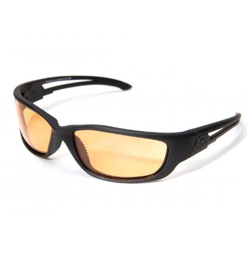 Edge Tactical Eyewear SBR-XL610 Blade Runner Matte Black with Tiger's Eye Lens, X-Large