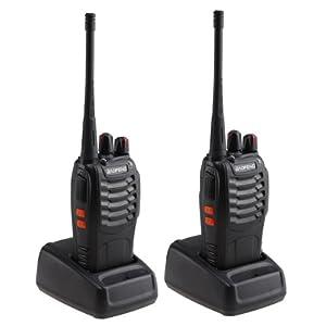 AGPtek reg Rechargeable Walkie Talkie16CH Two Way Radio Pair built in