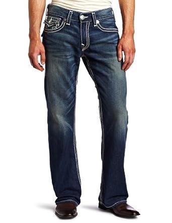 True Religion Men's Billy Big Qt Jean, Medium Blue, 42