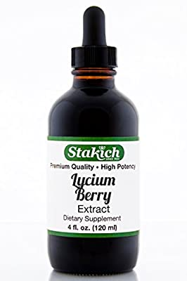 Stakich Lycium Berry (Lycium chinensis) 4 oz Liquid Extract - Top Quality