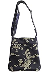 """US HANDMADE FASHION CROSS OVER BODY BAG WITH """"DRAGONS"""" PATTERN SHOULDER BAG WITH ADJUSTABLE HANDLE, NEW, CSOP 4434"""