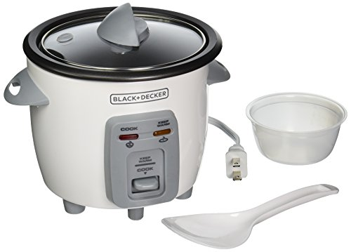 BLACK+DECKER RC3303 1.5-Cup Dry/3-Cup Cooked Compact Rice Cooker, White (Mini Small Rice Cooker compare prices)