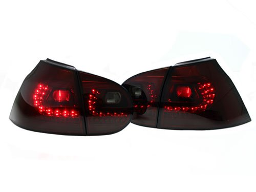 Volkswagen Mk5 Golf Gti R32 Rabbit Mk6 R Look Led Taillights Crystal Smoke Red 06-09 2006 2007 2008 2009