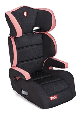 Piku 6228 - Seggiolino Auto, Gruppo 2/3, 15-36 kg, 3-12 anni, Colore rosa/nero