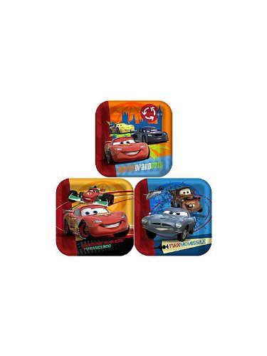 "Disney's Cars 2 9"" Lunch Plates 8 Pack - 1"