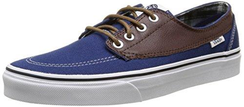 Vans Brigata - Scarpe da Ginnastica Basse Unisex - Adulto, Blu (leather/plaid/estate Blue/potting Soil), 40 EU