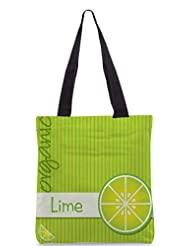 Snoogg Bright Organic Lime Card In Vector Format Designer Poly Canvas Tote Bag
