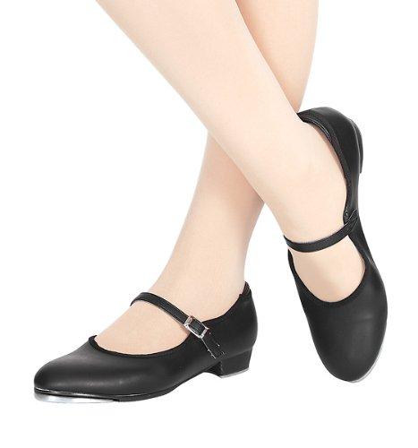 Adult Slide Buckle Tap Shoe,T9200BLK09.5M,Black,09.5 M